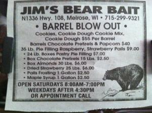 This was posted in a Black River Falls, Wisconsin newspaper last month.